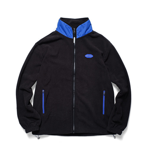 BCR POLAR FLEECE ZIP-UP BLACK CERDMJK03BK