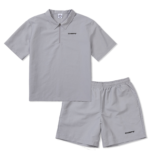 CHMPS WIND SHIRT SET-UP GREY