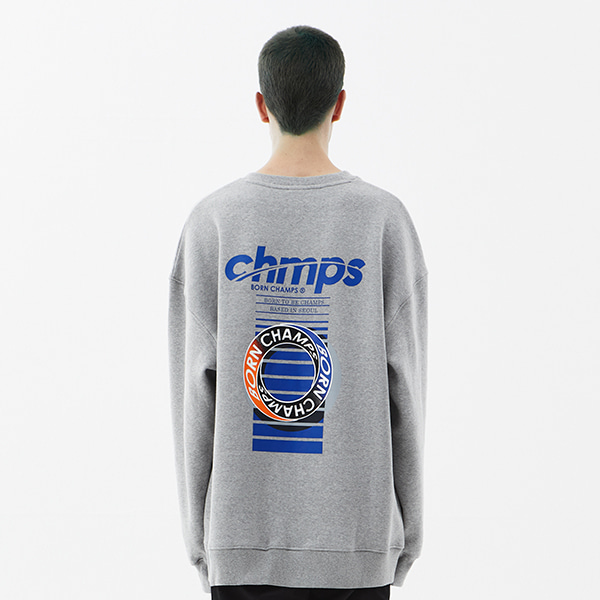 CHMPS ONE CREWNECK CETDMMT03GY