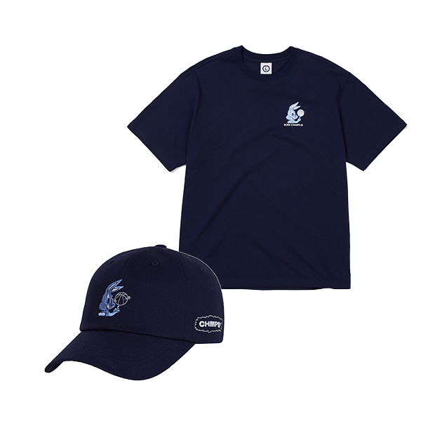 BASKET BALL TEE & CAP SET